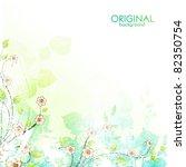 beauty flower background | Shutterstock .eps vector #82350754