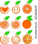 icon set of various fruit  ... | Shutterstock .eps vector #82360645