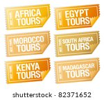 best tours stickers in form of  ... | Shutterstock .eps vector #82371652