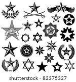set of vector stars | Shutterstock .eps vector #82375327