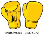 yellow boxing gloves | Shutterstock .eps vector #82375672