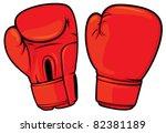 red boxing gloves | Shutterstock .eps vector #82381189