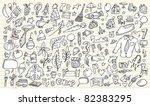 notebook doodle sketch design... | Shutterstock .eps vector #82383295