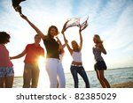 group of happy young people... | Shutterstock . vector #82385029
