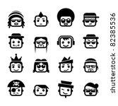 smiley faces. men characters | Shutterstock .eps vector #82385536