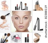 beauty theme collage composed...   Shutterstock . vector #82388119