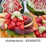 some decoration with fruit... | Shutterstock . vector #82406953