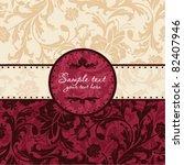 vintage floral card | Shutterstock .eps vector #82407946