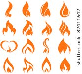 fire flames. collage. | Shutterstock .eps vector #82411642