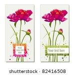 floral greeting cards with red... | Shutterstock .eps vector #82416508