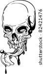 skull vector illustration | Shutterstock .eps vector #82421476