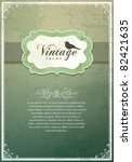 vintage invitation card | Shutterstock .eps vector #82421635