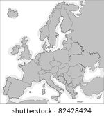 europe map with borders for... | Shutterstock .eps vector #82428424