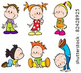 children | Shutterstock .eps vector #82428925