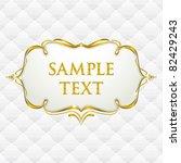 gold vintage frame with...   Shutterstock .eps vector #82429243