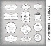 vintage frames vector  eps 10... | Shutterstock .eps vector #82438228