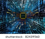 Interplay of digital circuit, technical texture and number graphics on the subject of electronics, computers, communications and modern technologies. - stock photo