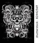 skull head ornament | Shutterstock .eps vector #82442569