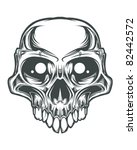 skull bone head | Shutterstock .eps vector #82442572