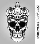 skull king crown design element | Shutterstock .eps vector #82443322