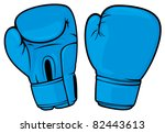 blue boxing gloves | Shutterstock .eps vector #82443613