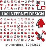 100 internet design icons ... | Shutterstock .eps vector #82443631