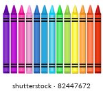 crayons   set of crayons...   Shutterstock . vector #82447672