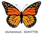 Stock vector monarch butterfly 82447750
