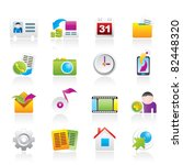 mobile phone menu icons  ... | Shutterstock .eps vector #82448320