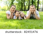 family of mother  father and... | Shutterstock . vector #82451476