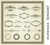 set of design elements  labels  ... | Shutterstock .eps vector #82462687