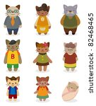 cartoon cat family icon set   Shutterstock .eps vector #82468465