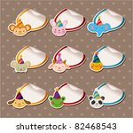 parry animal head sticker labels | Shutterstock .eps vector #82468543