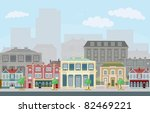 an urban street scene with... | Shutterstock .eps vector #82469221