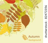 autumn beauty background with... | Shutterstock .eps vector #82472356