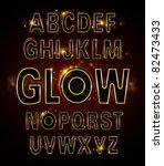 vector of alphabets of glowing... | Shutterstock .eps vector #82473433