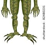 alligator monster - stock vector