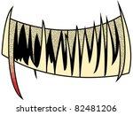 halloween teeth - stock vector