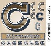 old fashioned alphabet. letter... | Shutterstock .eps vector #82481572