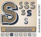 old fashioned alphabet. letter... | Shutterstock .eps vector #82481587