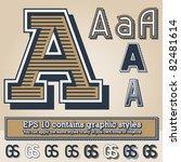old fashioned alphabet. letter... | Shutterstock .eps vector #82481614