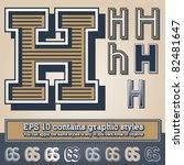 old fashioned alphabet. letter... | Shutterstock .eps vector #82481647