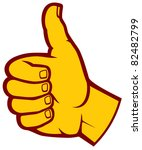 human hand giving ok  thumbs up  | Shutterstock .eps vector #82482799