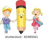 Illustration Of Kids Holding...
