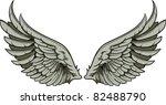 vector wings | Shutterstock .eps vector #82488790