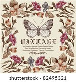 Butterflies. Flowers. Vector....