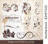 vector set  calligraphic design ... | Shutterstock .eps vector #82497223