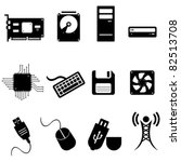 computer and technology icon set | Shutterstock .eps vector #82513708