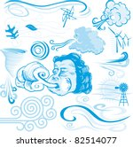 wind collection | Shutterstock .eps vector #82514077