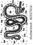 kill the snake by sword | Shutterstock .eps vector #82527616
